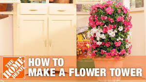 Flower Towers Small Garden Ideas The Home Depot Youtube