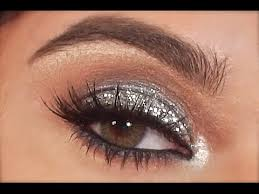 silver glitter eye makeup tutorial