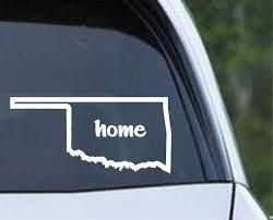 Oklahoma Home State Outline Ok Usa America Die Cut Vinyl Decal Sticker Decals City