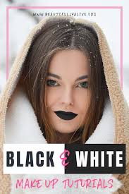 3 black and white makeup tutorials to