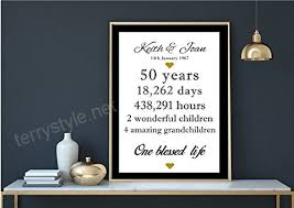 personalised 50th anniversary gift idea