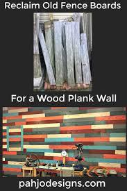 Diy Wood Plank Wall Reclaimed Fence Board Project Easy Old Fence Boards Wood Plank Walls Old Fences