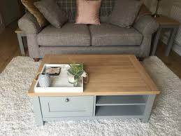coffee table grey and light oak