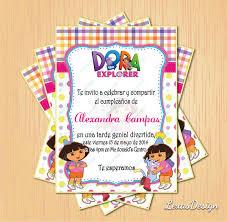 Invitacion Digital Imprimible Dora La Exploradora Cumpleanos