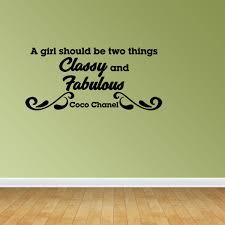 Classy And Fabulous Vinyl Wall Decals Inspirational Decal Coco Chanel Jp52 Walmart Com Walmart Com