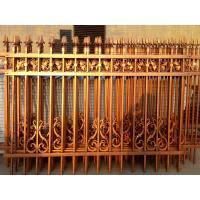 Antique Brass Color Wrought Iron Fence Residential Place Fence Panels Cheap Wrought Iron Fence Panels For Sale Model Dk0 Of Anjufence