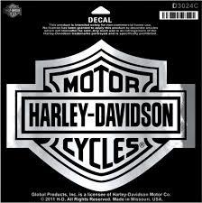 Harley Davidson Large Chrome Bar And Shield Decal D3024c