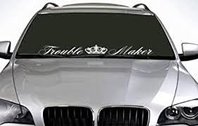 Amazon Com 90cm Trouble Maker Windscreen Sticker Euro Jdm Drift Car Vinyl Decal Automotive