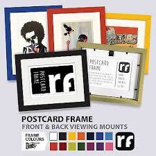 postcard picture frame wood black white