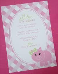 Pink Little Piggy Birthday Party Invitations 26 25 Via Etsy