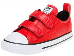 star red white infant leather velcro