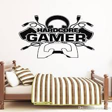 Hardcore Gamer Wall Sticker Vinyl Home Decor For Teens Boys Bedroom Playroom Dorm Game Controller Decals Video Games Murals Wall Decal Tree Wall Decal Vinyl From Joystickers 11 75 Dhgate Com