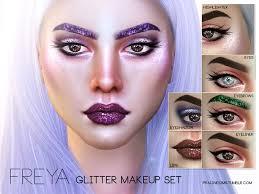pralinesims freya glitter makeup set