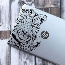 Leopard Vinyl Sticker Laptop Decal Wall Sticker Big Cats Etsy