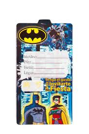 Tarjetas De Invitacion Batman Mister Pinatas