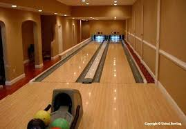 home installed bowling lanes