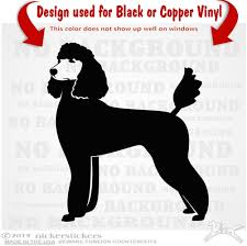 Custom Standard Poodle Dog Decals Stickers Nickerstickers