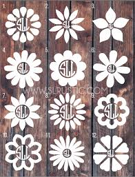 Flower Monogram Decal 2 Car Decal Yeti Decal Slrustic
