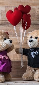 wallpaper two teddy bears toy love