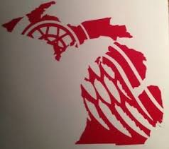 Detroit Red Wings Little Caesars Arena Michigan 2018 Yeti Vinyl Decal Sticker Ebay