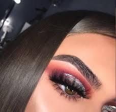 cranberry glittery eye shadow makeup