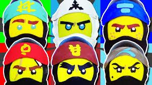GIANT Lego Ninjago PLAY DOH SURPRISE EGG COMPILATION Lloyd, Kai ...