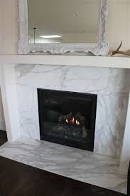 modern marble fireplace mantel home