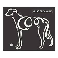 K Line Greyhound Dog Car Window Decal Tattoo Doggy Style Gifts