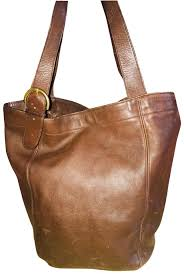 large 4082 brown leather shoulder bag