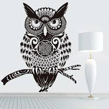 Dctop High Quality Brown Owl Wall Sticker For Kids Rooms Wall Decor Vi Home Decor