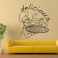 Pizza Restaurant Wall Window Decal Kitchen Food Wall Art Decoration Delicious Pizza Design Wall Stickers Removable Poster Ay1629 Wall Stickers Aliexpress