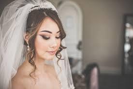 bridal wedding hair and wedding makeup