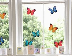 Colourful Butterfly Window Stickers Decals Stickers4