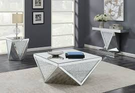 divinity mirrored coffee table set