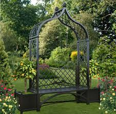 the brighton metal arbour seat with