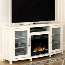 electric fireplace tv stand white media