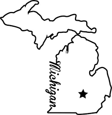 Amazon Com Nd330 State Of Michigan Script Decal Sticker 5 5 Inches By 5 3 Inches Premium Quality Black Vinyl Automotive