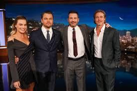 Margot Robbie, Leonardo DiCaprio and Brad Pitt - Jimmy Kimmel Live ...
