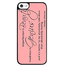 season c marilyn monroe quotes imperfect hard back case cover for