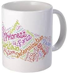 Amazon Com Demon Decal Mug Princess Half Marathon Tennis Shoe 13 1 Mug 15 Ounce Ceramic White Coffee Tea Cup Kitchen Dining