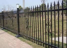 Powder Coated Security Picket Tubular Steel Fence Ornamental Fence Panels