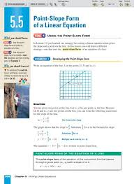 5 5 point slope form of a linear equation