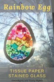 tissue paper stained glass easter egg
