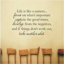Life Is Like A Camera Art Vinyl Mural Home Room Decor Wall Stickers Sale Price Reviews Gearbest