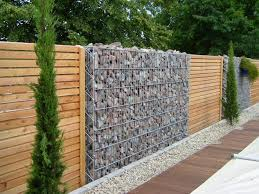 15 Impressive Ideas On How To Build A Privacy Stone Walls Or Fences In Outdoor Top Inspirations Gabion Wall Backyard Fences Fence Design