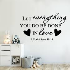 Christian Quotes Wall Decal Creative Decor For Home Religion Vinyl Culture Wall Stickers Bible Verse Wall Art Sticker Wallcorners Art Canvas