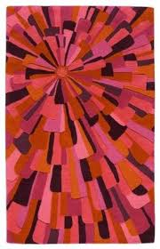 sunset area rug by angela adams red
