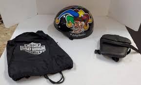 Lot 126 Harley Davidson Helmet Bag And Decal With Saddlemen Seat Pad Puget Sound Estate Auctions