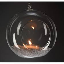 tealight candle holder hanging glass