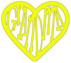 Grandma Heart Vinyl Decal For A Yeti Car Planners Etsy